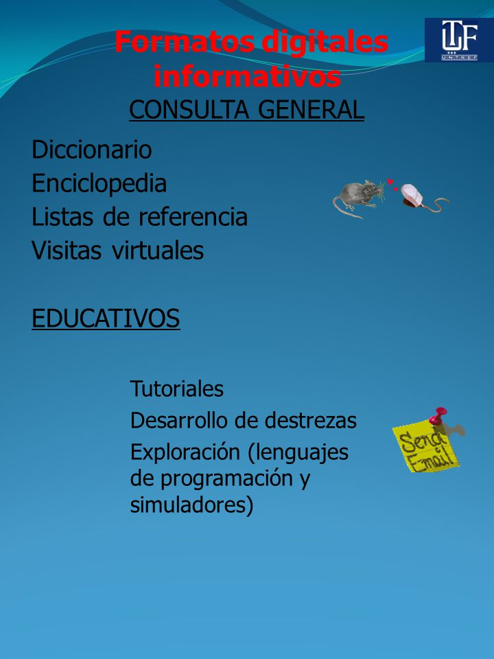 Formatos digitales informativos CONSULTA GENERAL