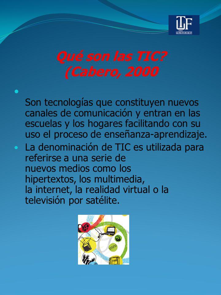 Qué son las TIC (Cabero, 2000