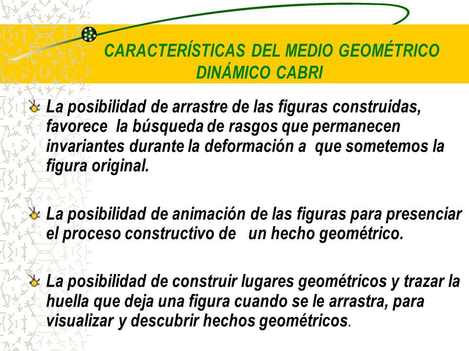 CARACTERÍSTICAS DEL MEDIO GEOMÉTRICO DINÁMICO CABRI