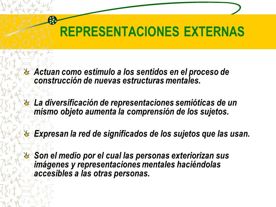 REPRESENTACIONES EXTERNAS