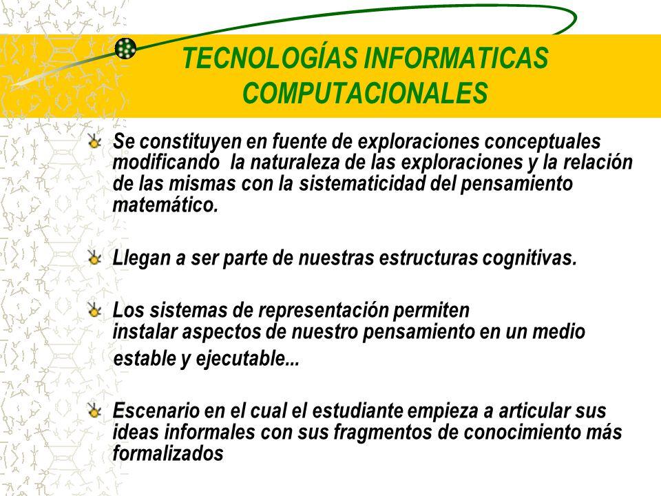 TECNOLOGÍAS INFORMATICAS COMPUTACIONALES