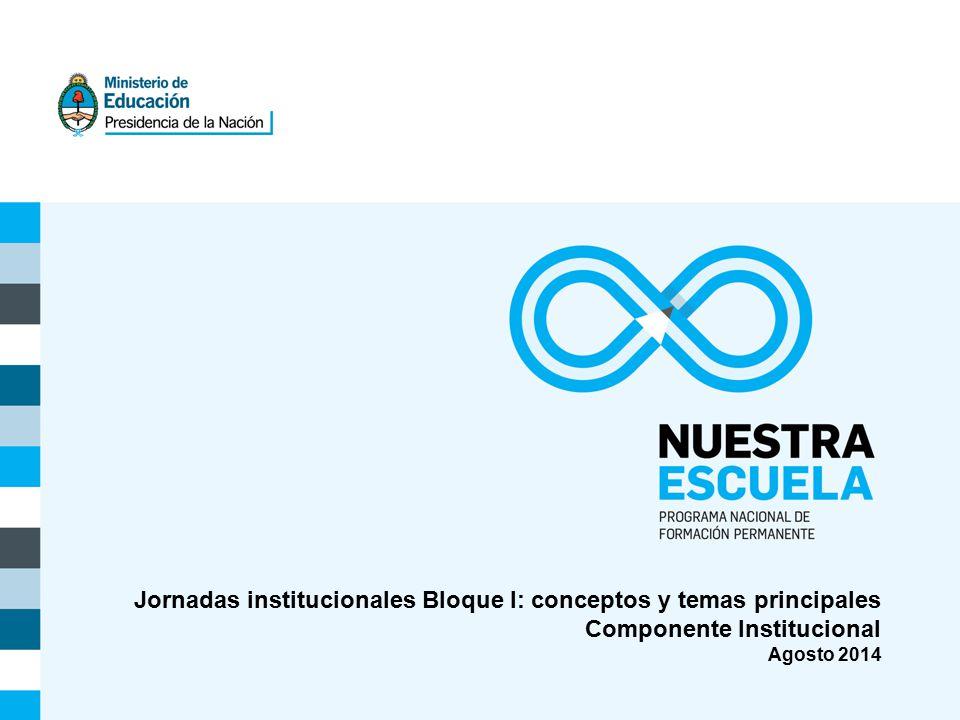 Jornadas institucionales Bloque I: conceptos y temas principales