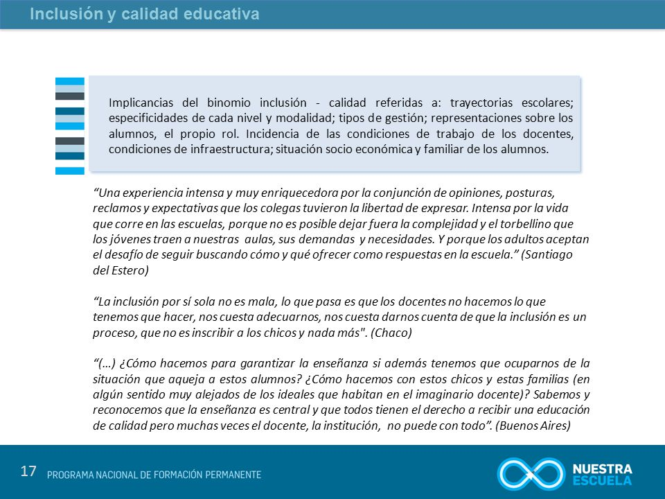 Inclusión y calidad educativa