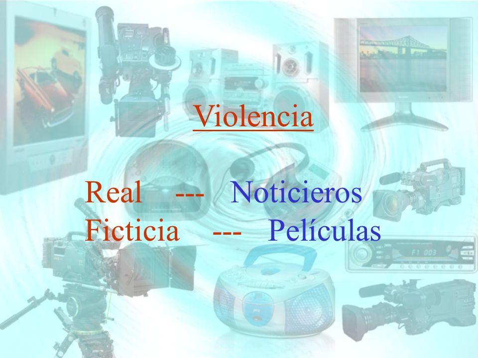 Violencia Real --- Noticieros Ficticia --- Películas