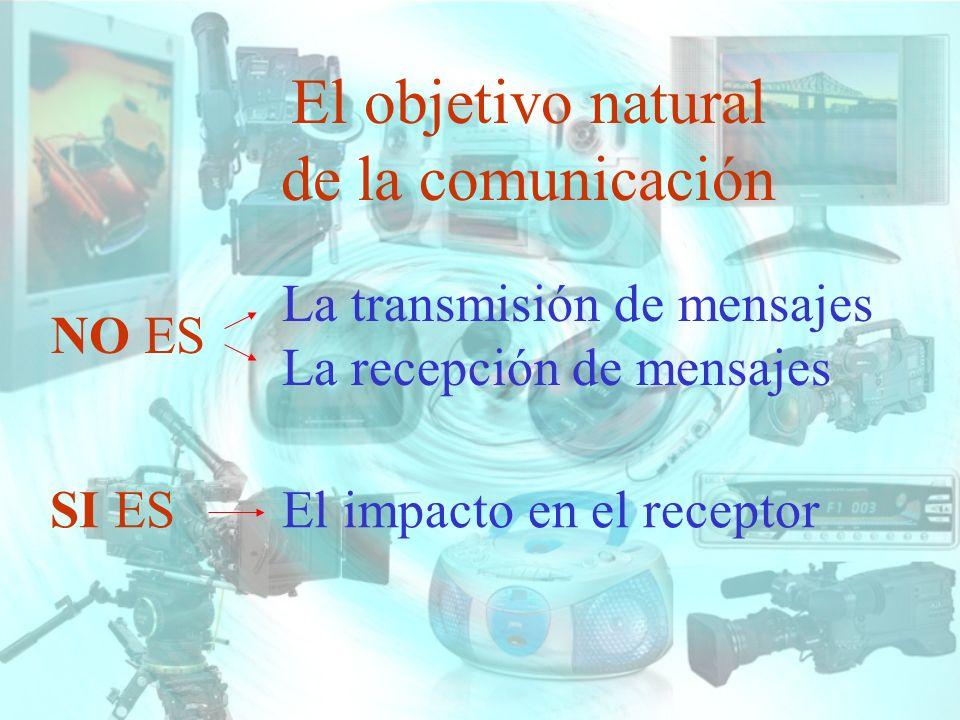 El objetivo natural de la comunicación La transmisión de mensajes