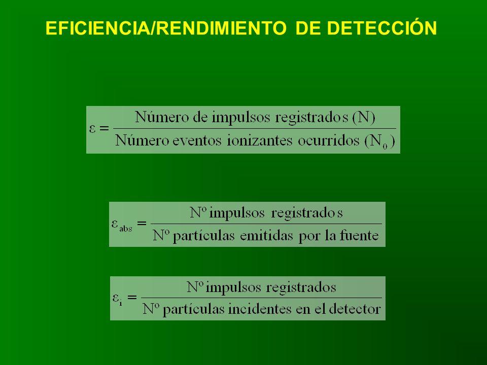 EFICIENCIA/RENDIMIENTO DE DETECCIÓN