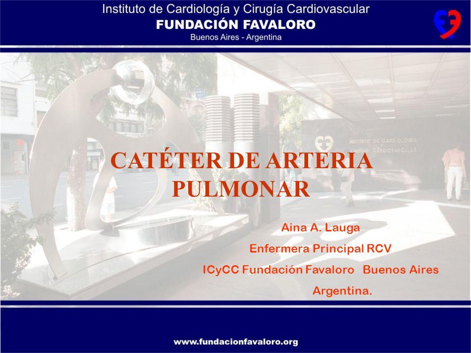 Monitoreo de las presiones de la arteria pulmonar