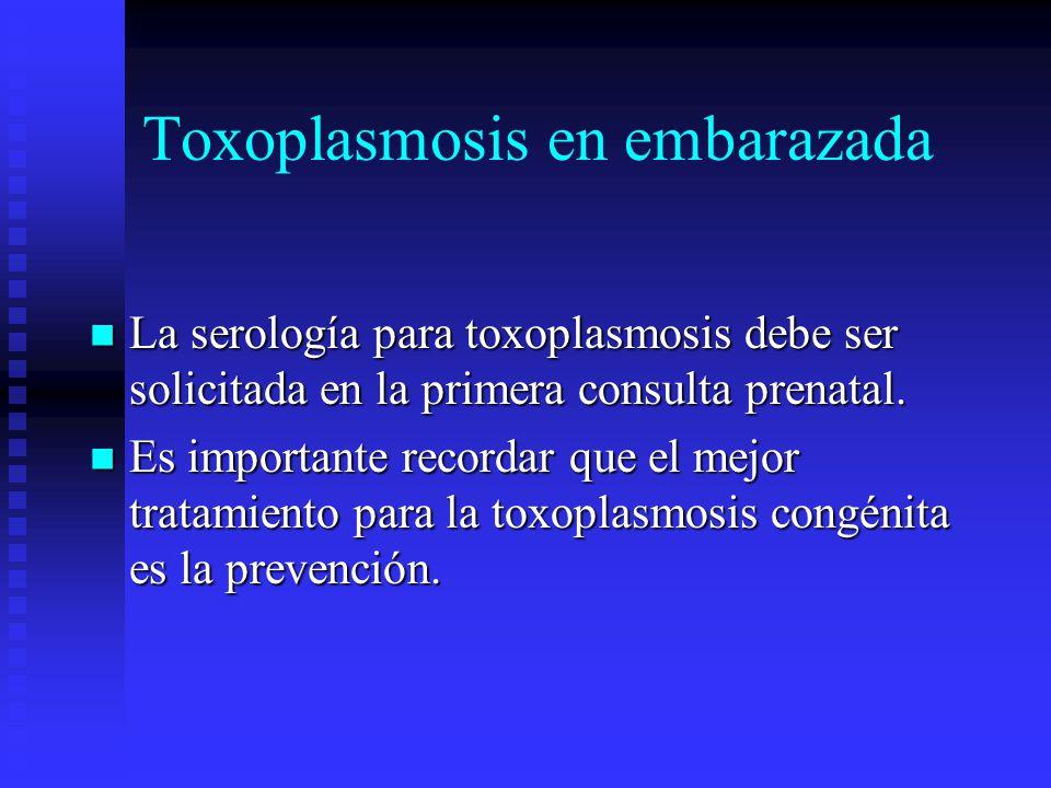 Toxoplasmosis en embarazada