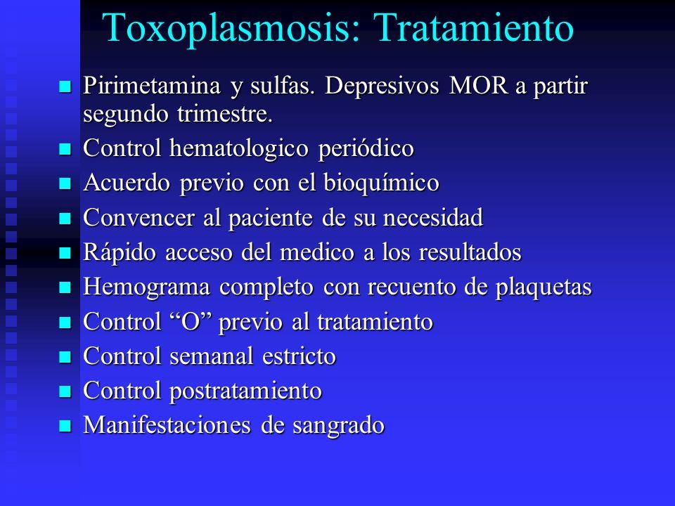 Toxoplasmosis: Tratamiento