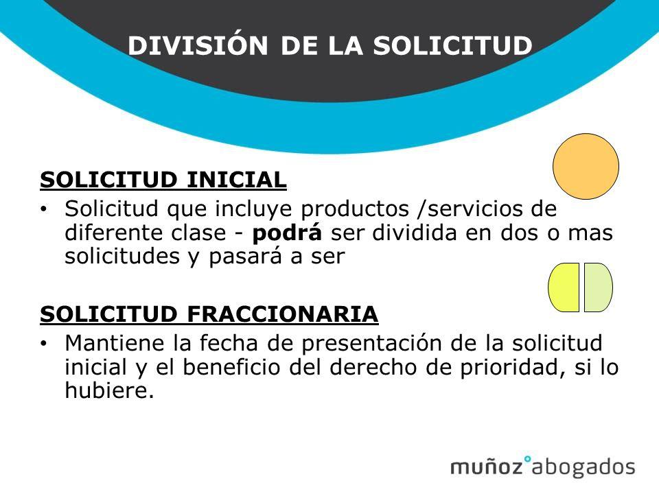 DIVISIÓN DE LA SOLICITUD