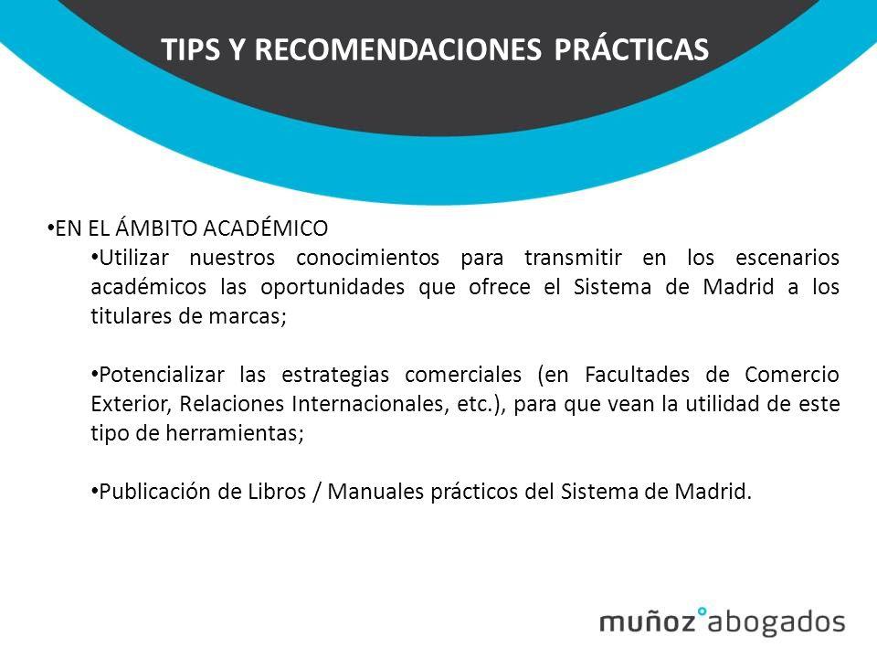 TIPS Y RECOMENDACIONES PRÁCTICAS