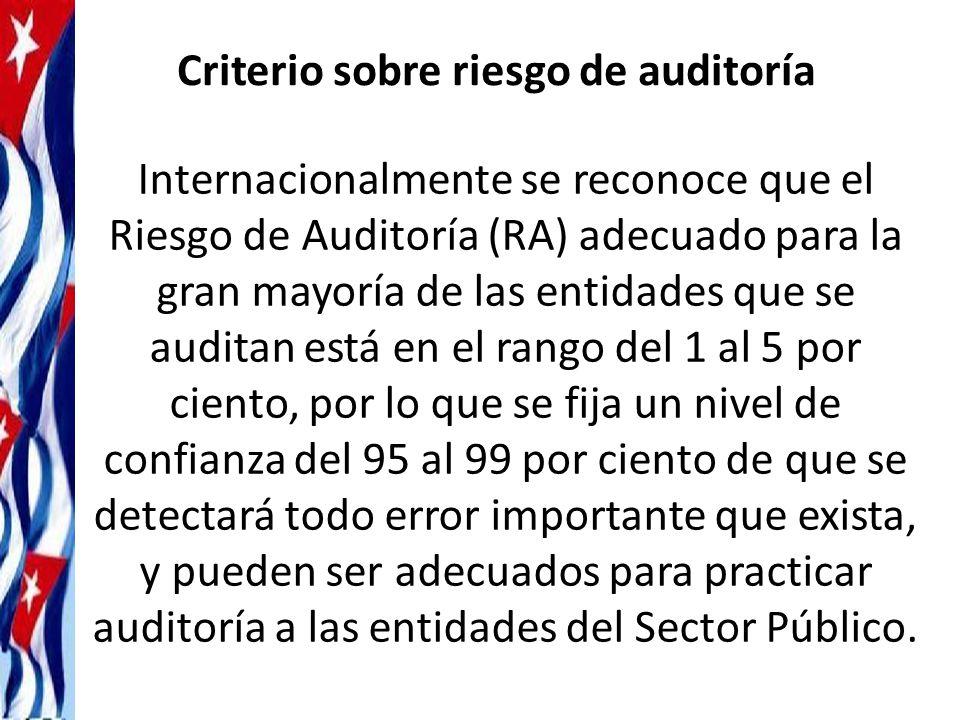Criterio sobre riesgo de auditoría