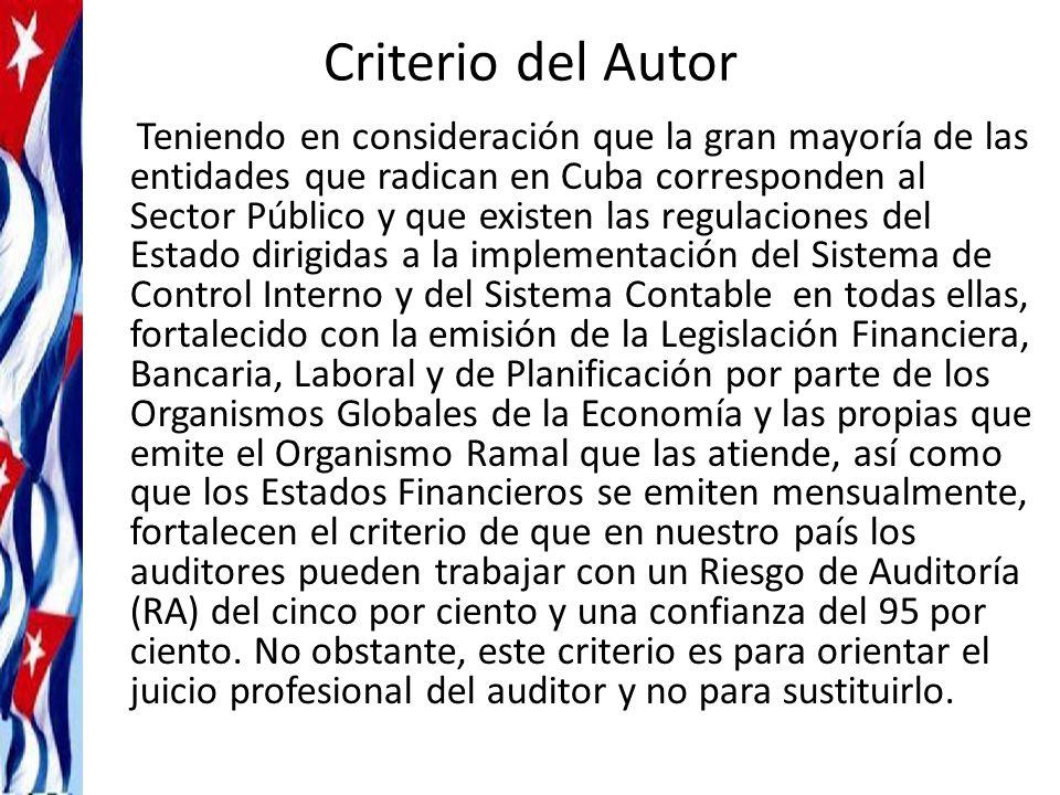 Criterio del Autor