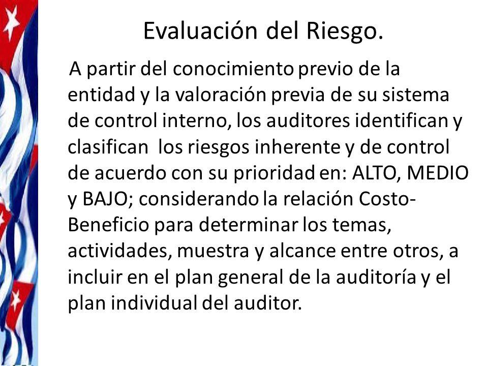 Evaluación del Riesgo.