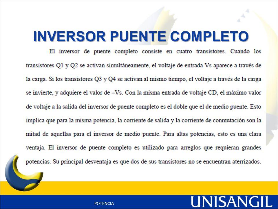INVERSOR PUENTE COMPLETO