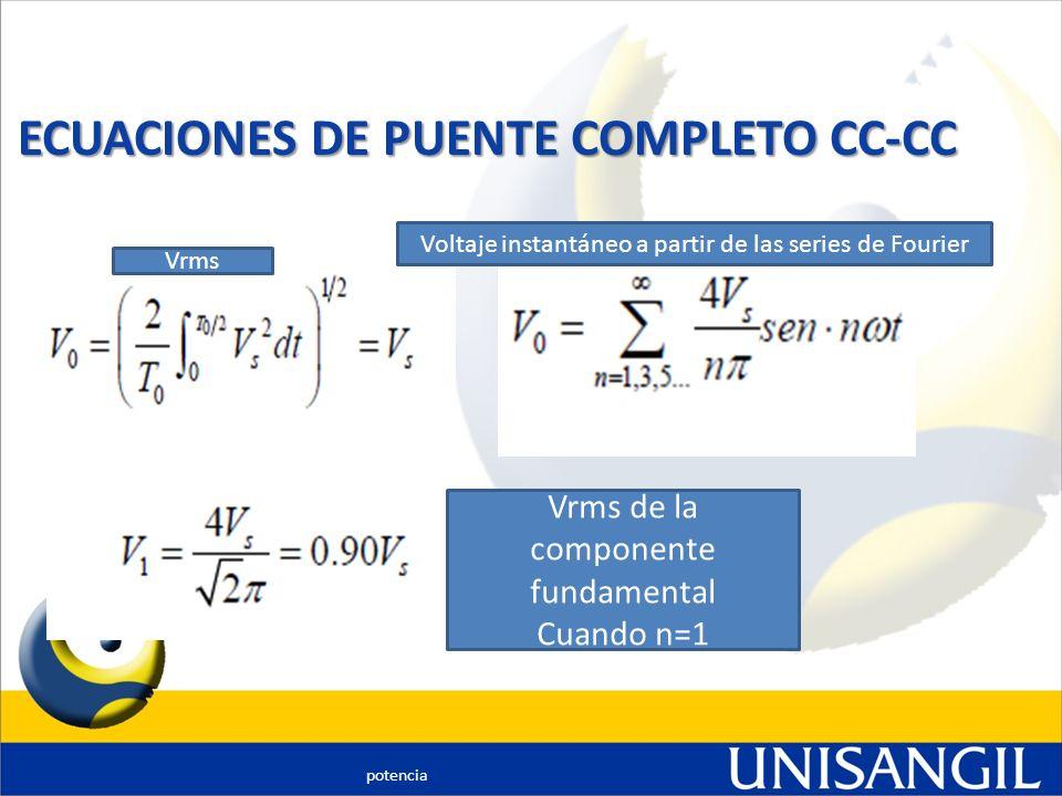 ECUACIONES DE PUENTE COMPLETO CC-CC