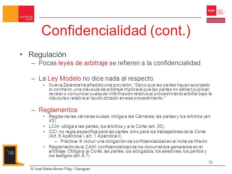Confidencialidad (cont.)