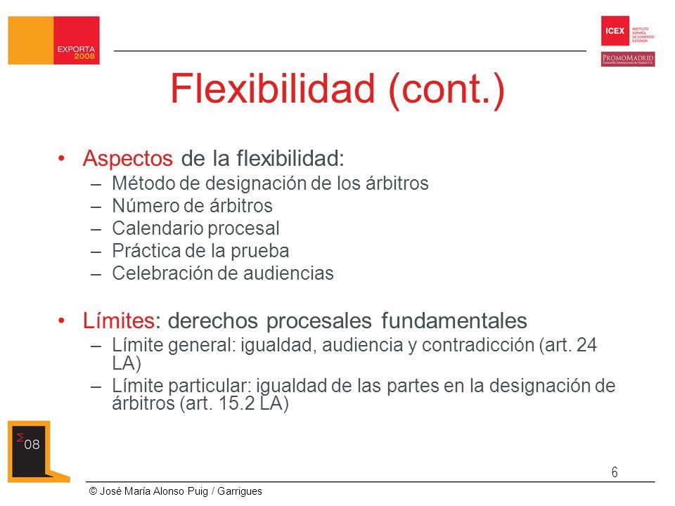 Flexibilidad (cont.) Aspectos de la flexibilidad: