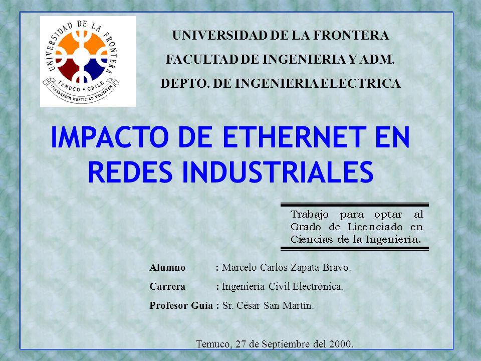 IMPACTO DE ETHERNET EN REDES INDUSTRIALES
