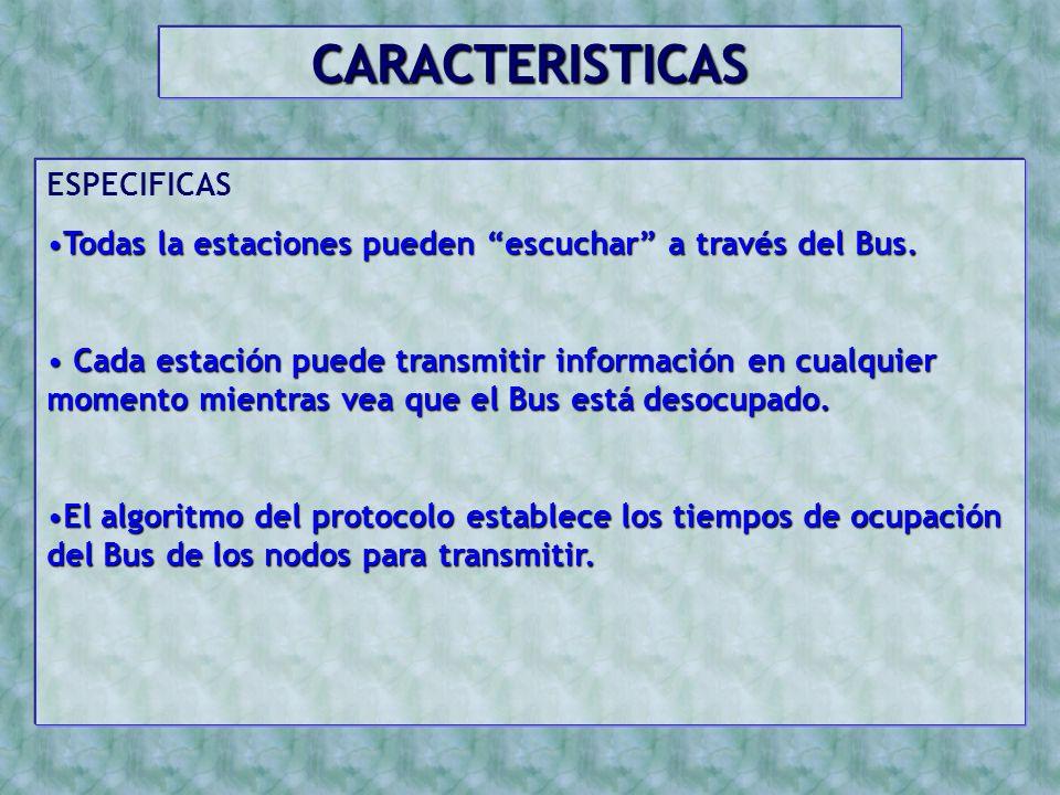 CARACTERISTICAS ESPECIFICAS
