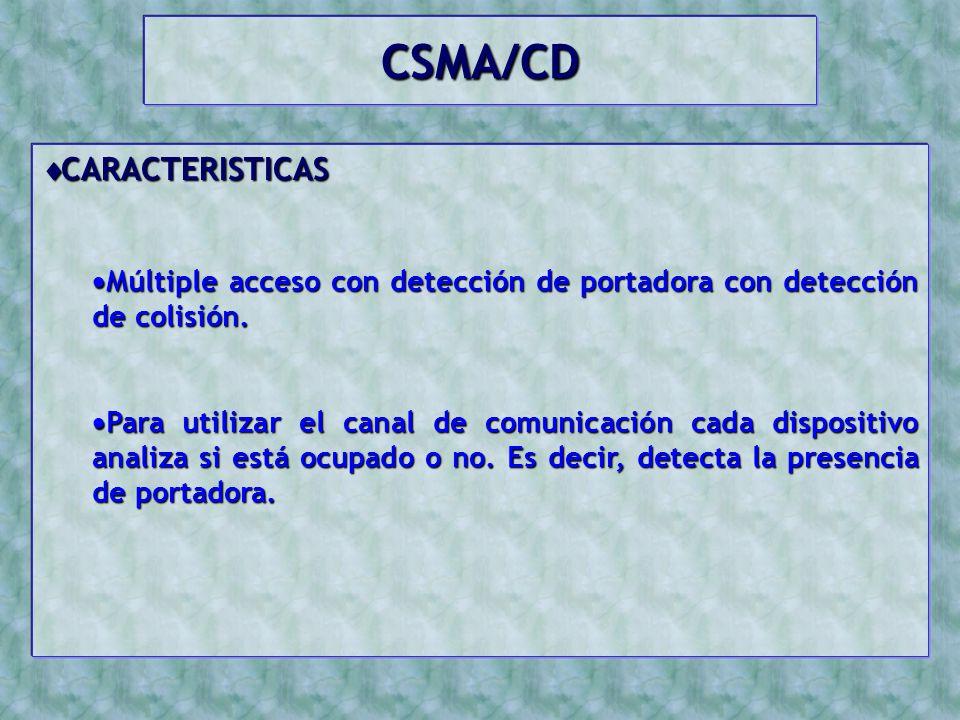 CSMA/CD CARACTERISTICAS