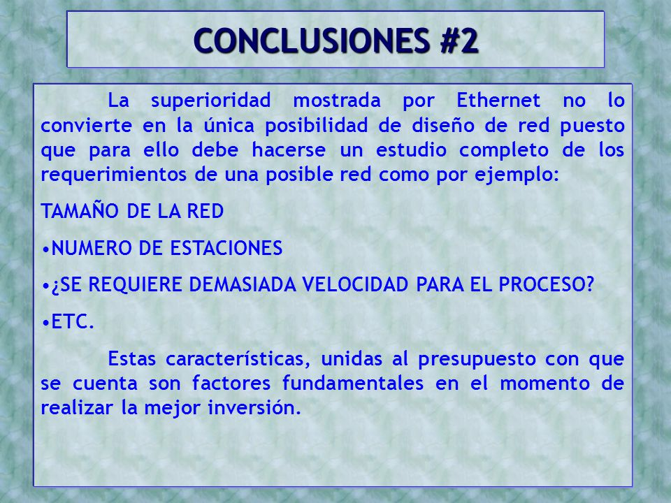 CONCLUSIONES #2