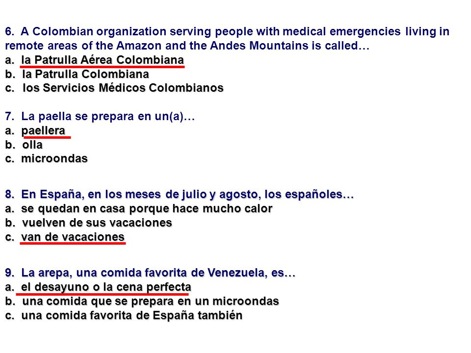 6. A Colombian organization serving people with medical emergencies living in