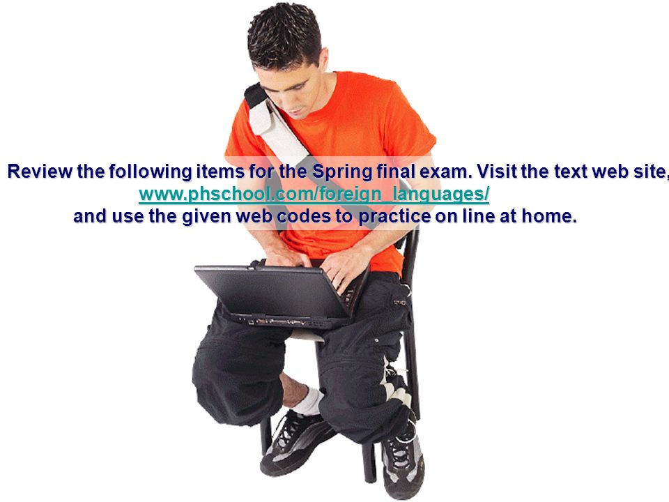 Review the following items for the Spring final exam