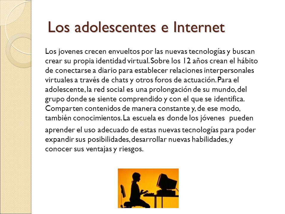 Los adolescentes e Internet