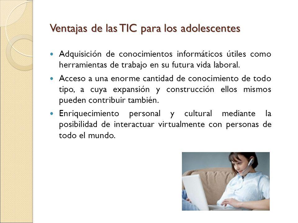 Ventajas de las TIC para los adolescentes