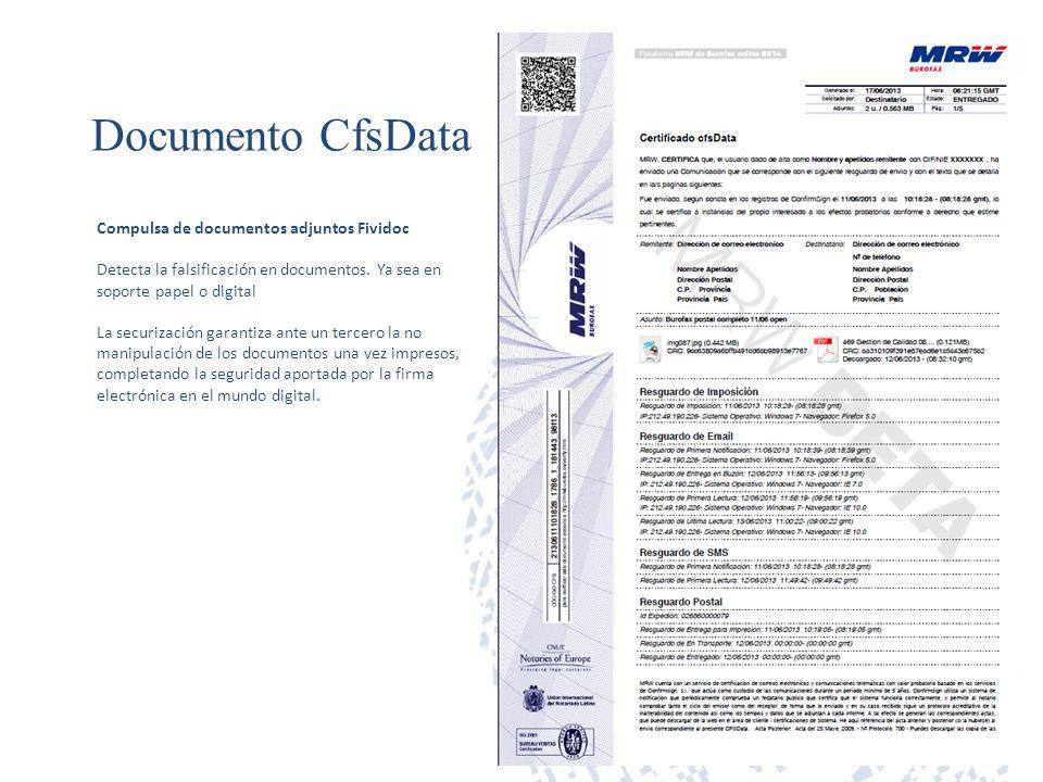 Documento CfsData Compulsa de documentos adjuntos Fividoc