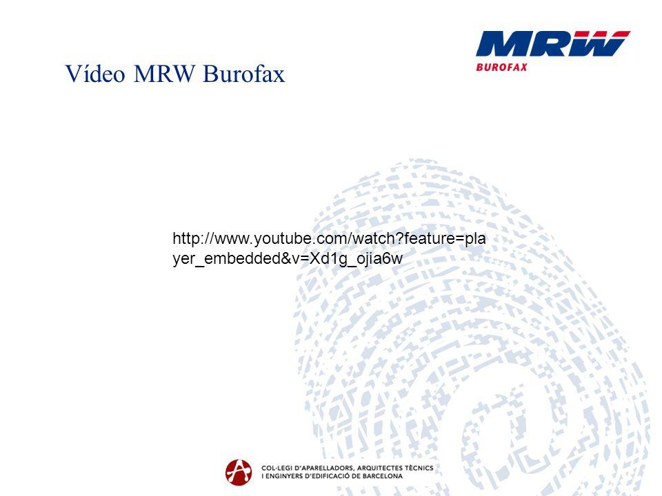 Vídeo MRW Burofax http://www.youtube.com/watch feature=player_embedded&v=Xd1g_ojia6w