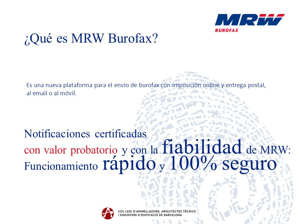 ¿Qué es MRW Burofax Notificaciones certificadas