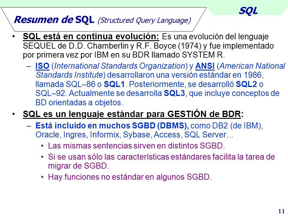 Resumen de SQL (Structured Query Language)