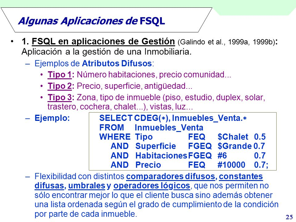 Algunas Aplicaciones de FSQL
