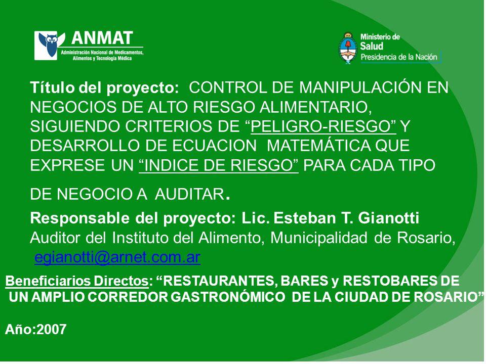 Responsable del proyecto: Lic. Esteban T. Gianotti