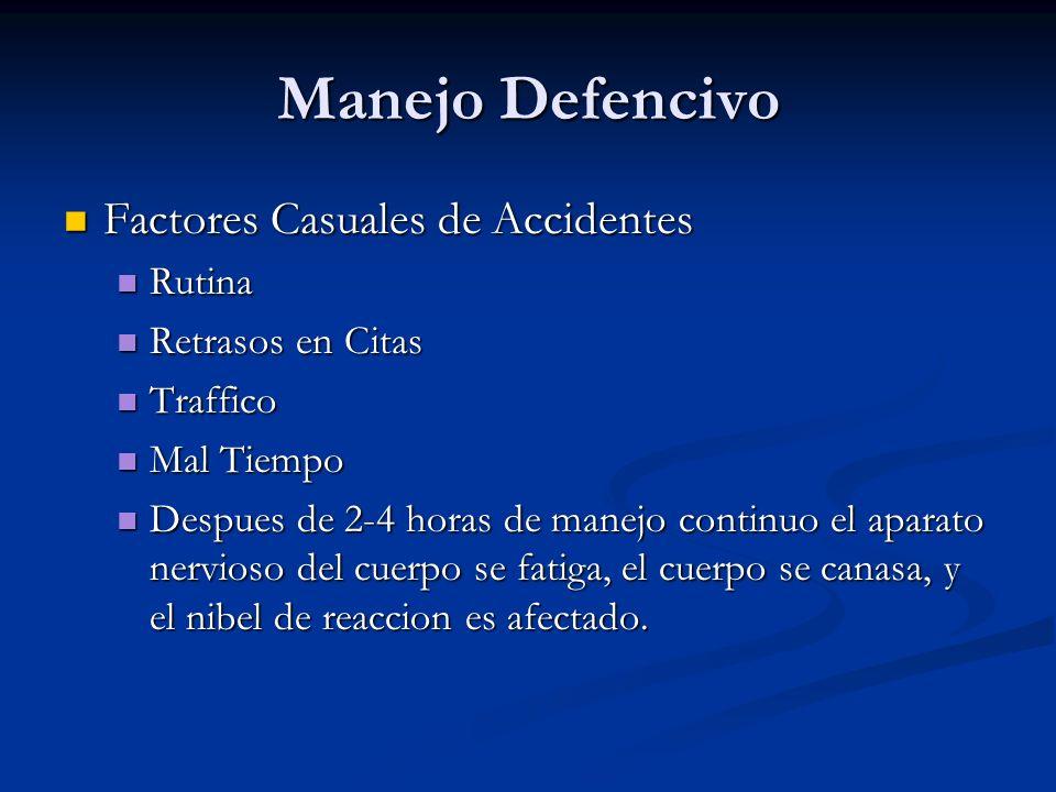Manejo Defencivo Factores Casuales de Accidentes Rutina