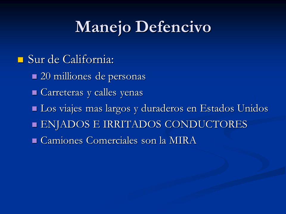 Manejo Defencivo Sur de California: 20 milliones de personas