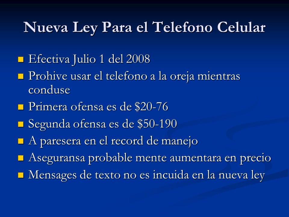 Nueva Ley Para el Telefono Celular