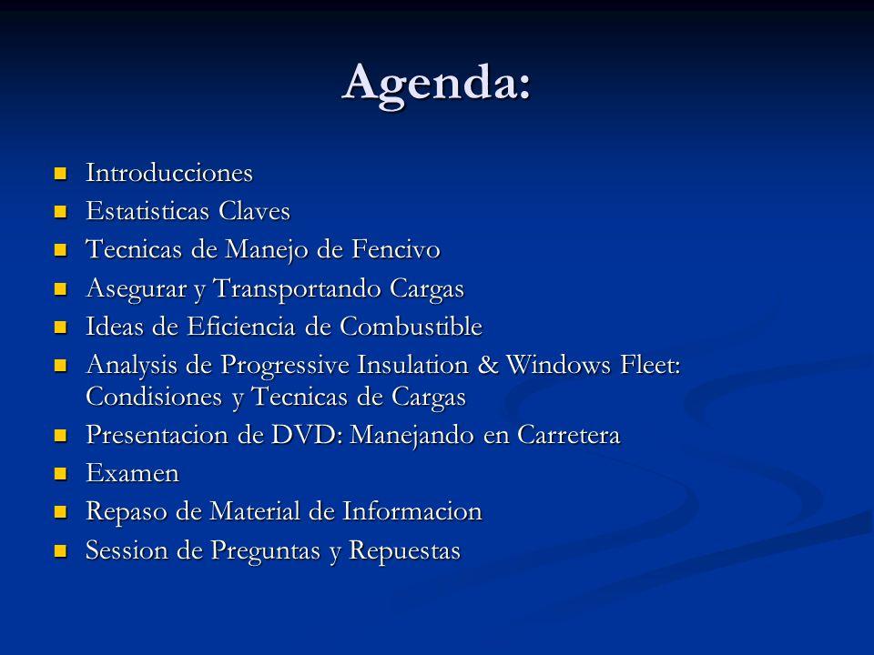 Agenda: Introducciones Estatisticas Claves
