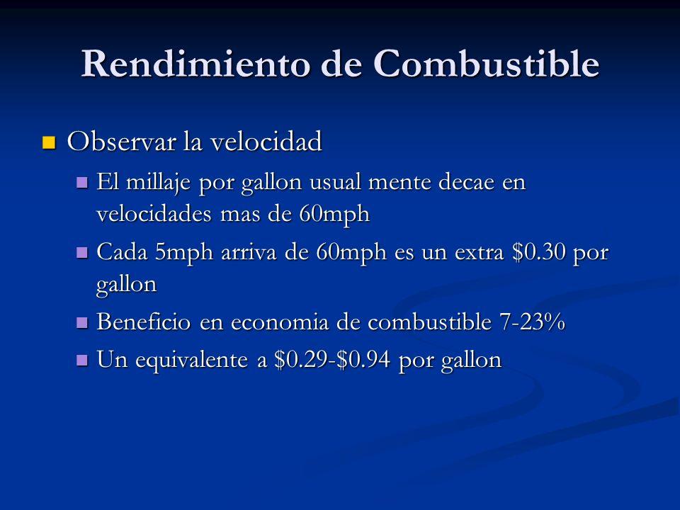 Rendimiento de Combustible