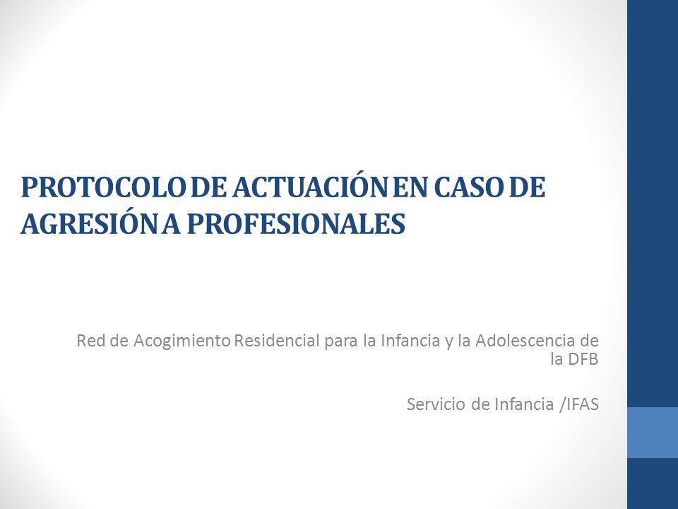 PROTOCOLO DE ACTUACIÓN EN CASO DE AGRESIÓN A PROFESIONALES