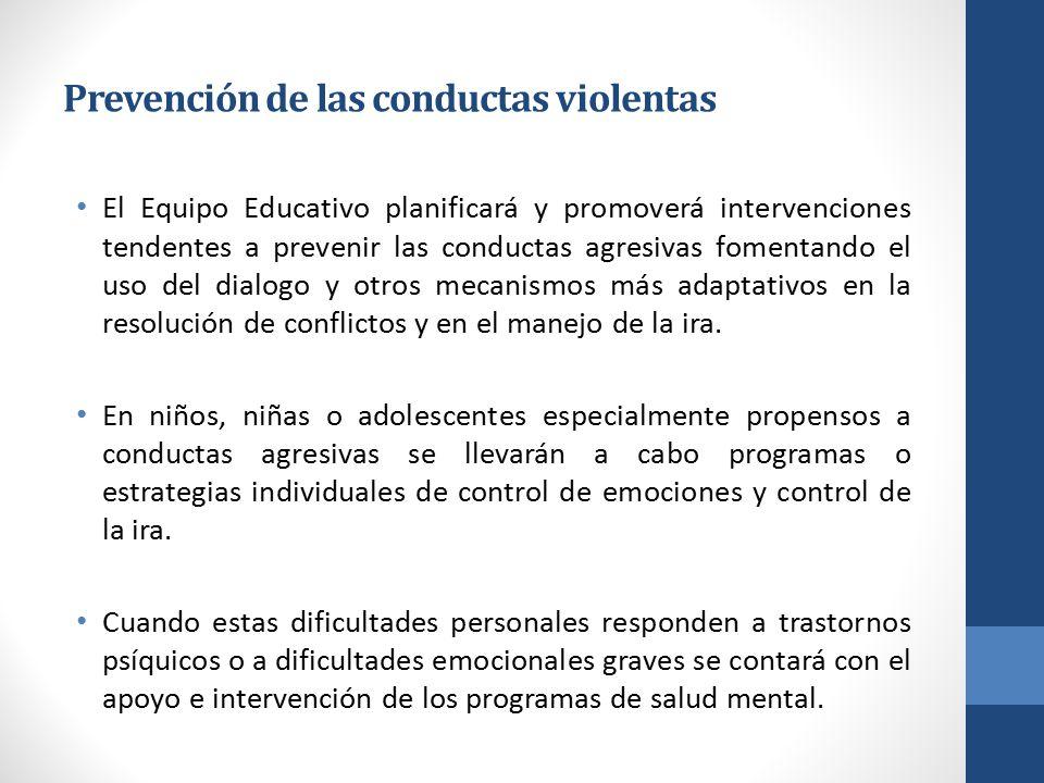 Prevención de las conductas violentas