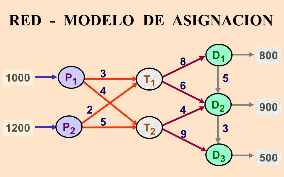 RED - MODELO DE ASIGNACION