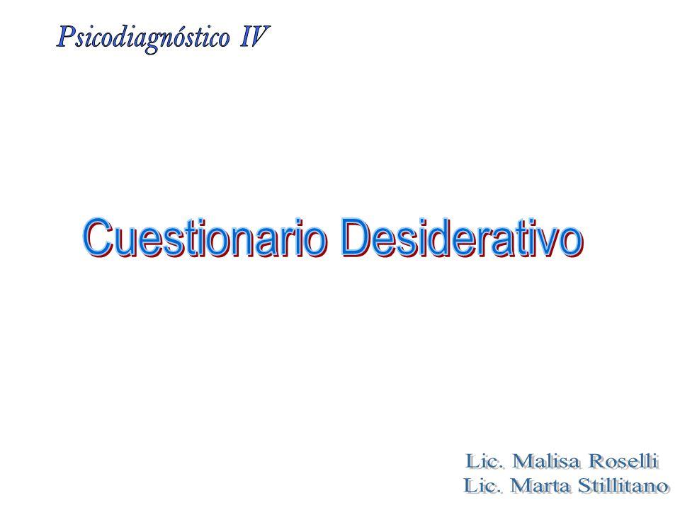 Cuestionario Desiderativo