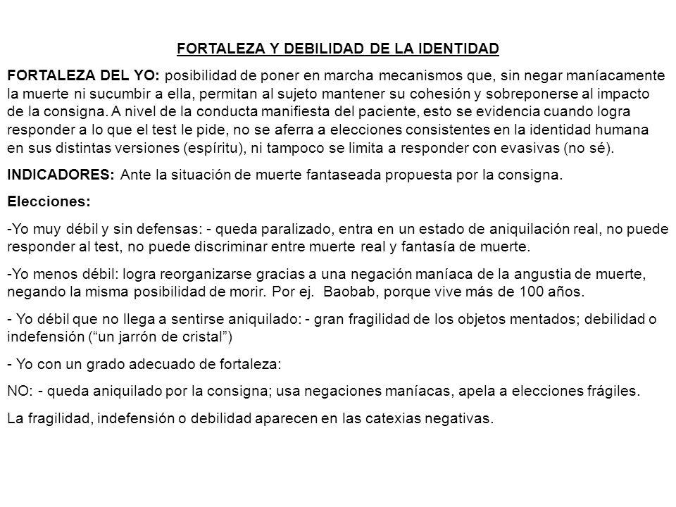 FORTALEZA Y DEBILIDAD DE LA IDENTIDAD