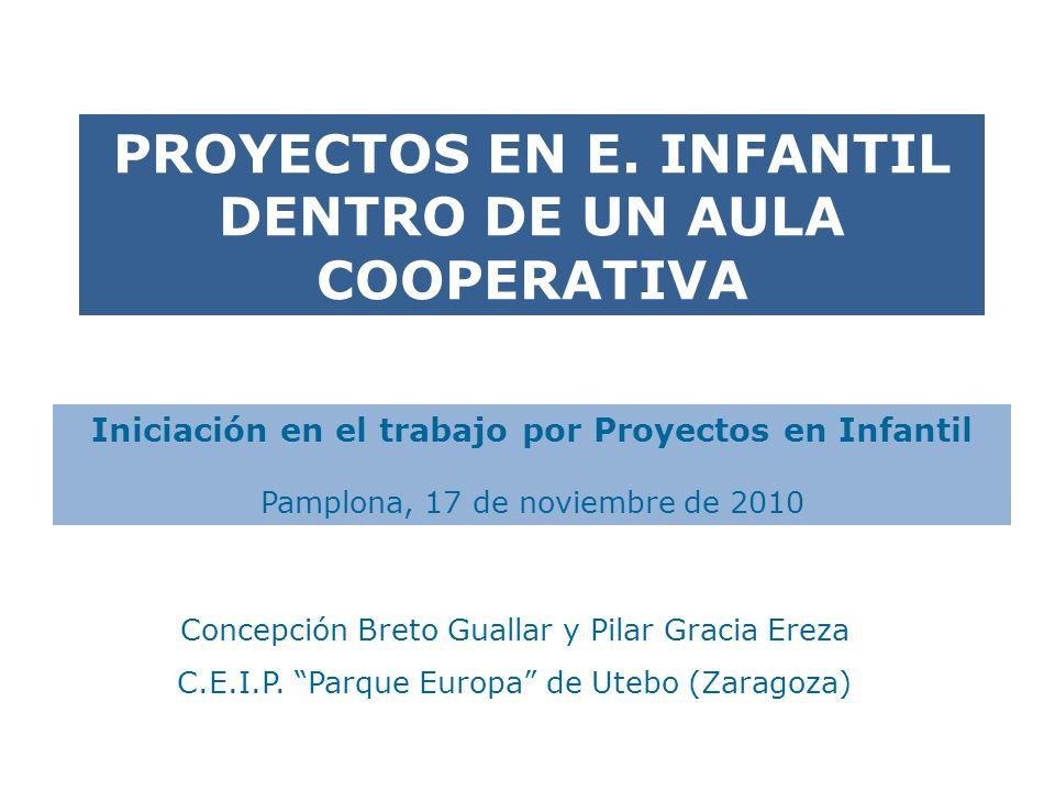 PROYECTOS EN E. INFANTIL DENTRO DE UN AULA COOPERATIVA
