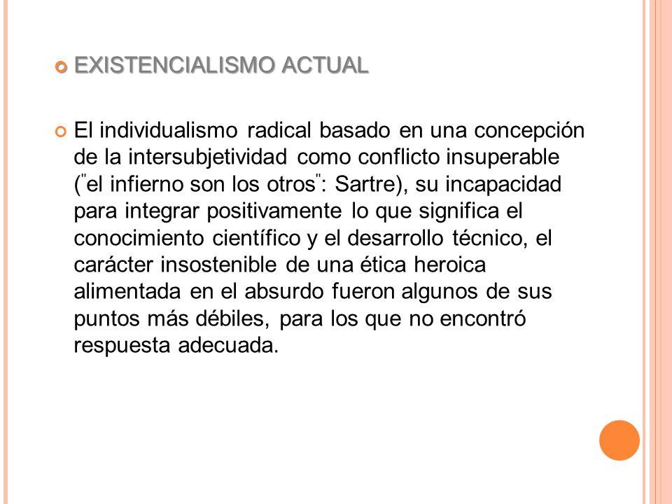 EXISTENCIALISMO ACTUAL