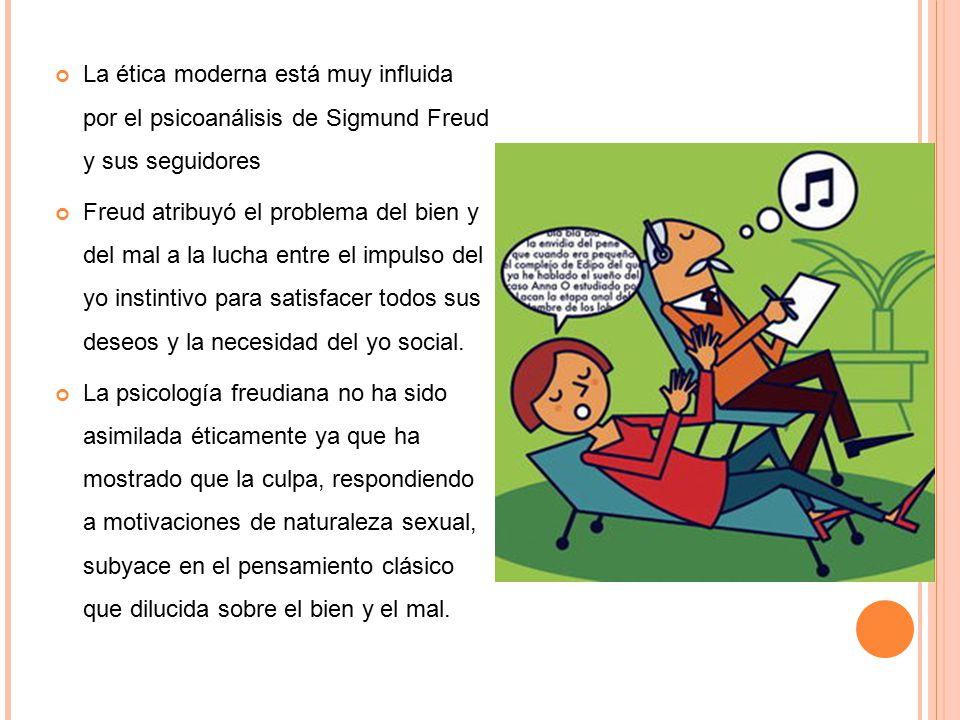 30/03/09 La ética moderna está muy influida por el psicoanálisis de Sigmund Freud y sus seguidores.