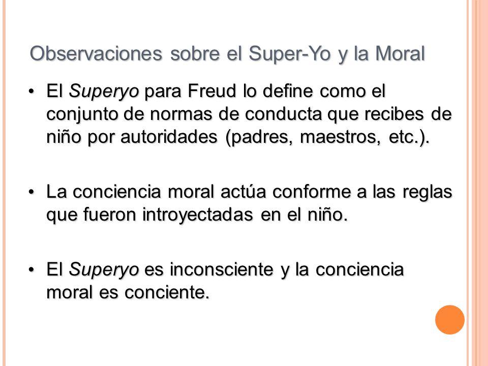 Observaciones sobre el Super-Yo y la Moral